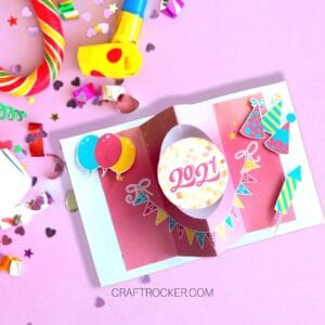 2021 New Years Spinner Card - Craft Rocker