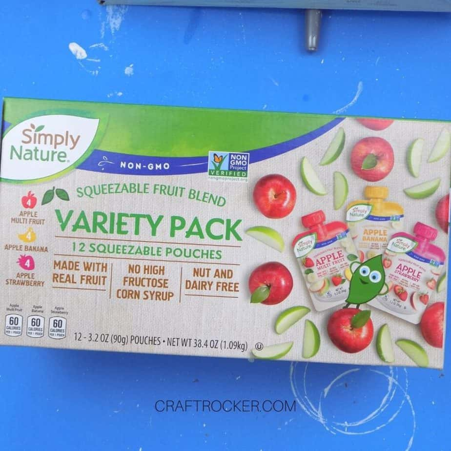 Close Up of Applesauce Pouches Box - Craft Rocker