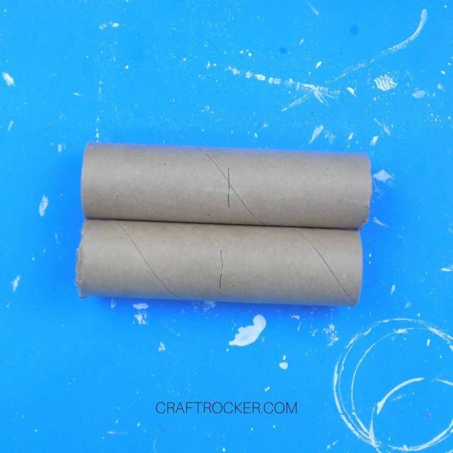 Close Up of Halves of Brown Paper Towels Roll - Craft Rocker