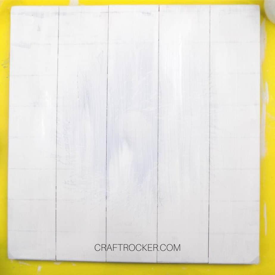 Coat of White Paint on Pallet Art - Craft Rocker