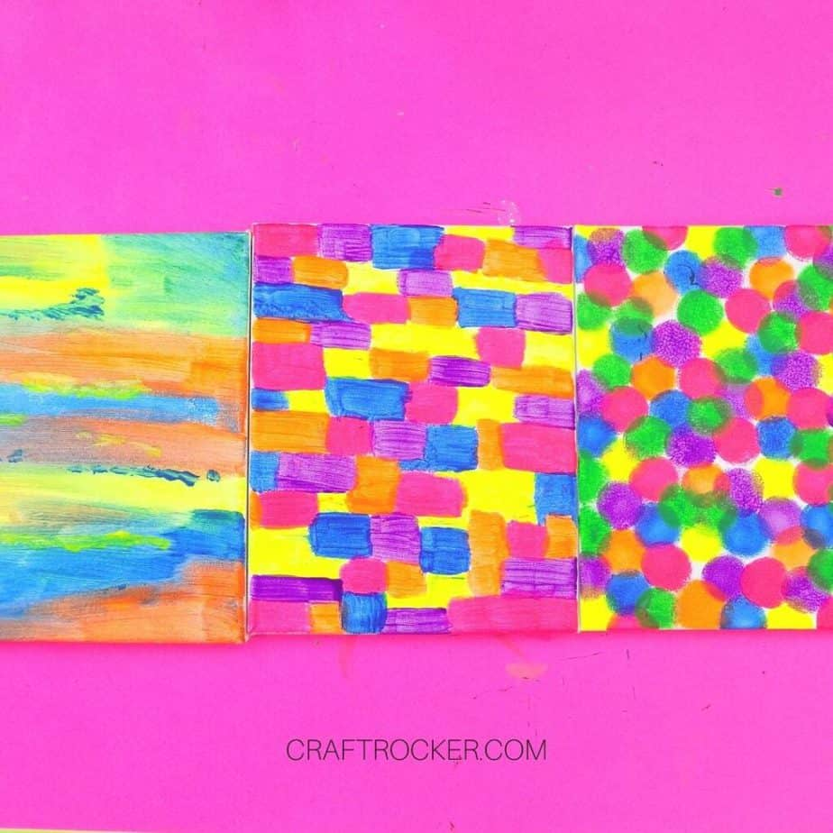 Colorful Painted Canvases - Craft Rocker
