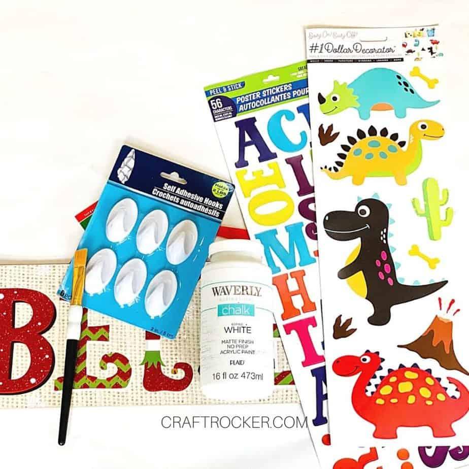 Craft Supplies and Dinosaur Stickers - Craft Rocker