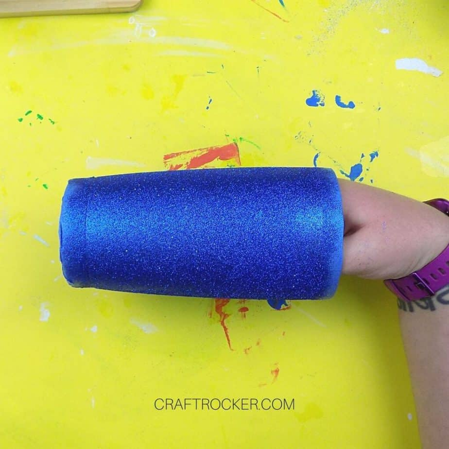 Hand Holding Inside of Blue Glitter Tumbler - Craft Rocker
