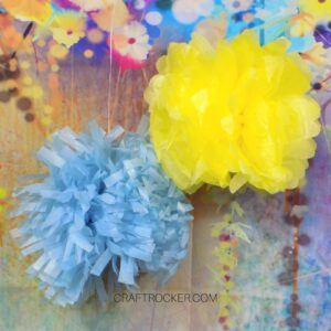 Hanging Tissue Paper Pom Poms - Craft Rocker
