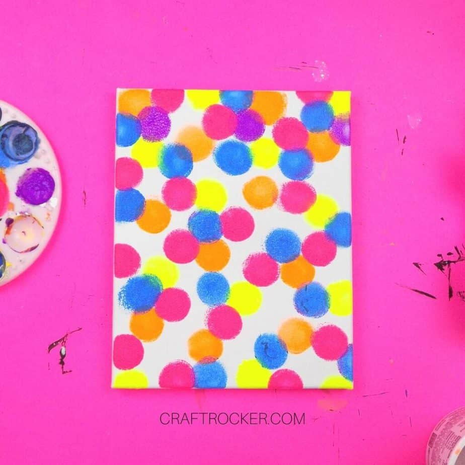 Painted Circles on Canvas - Craft Rocker