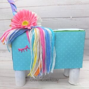 Rainbow Unicorn Valentine Box - Craft Rocker