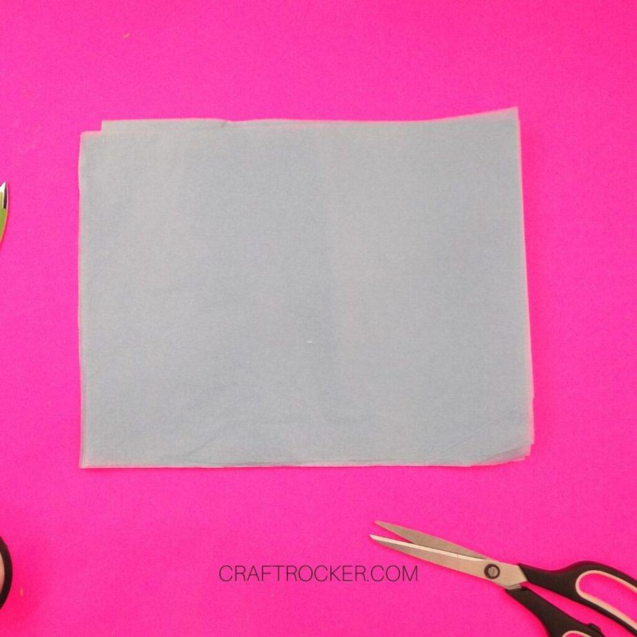 Stacked Sheets of Light Blue Tissue Paper - Craft Rocker