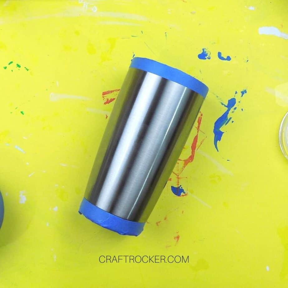 Taped Ends of Stainless Steel Tumbler - Craft Rocker