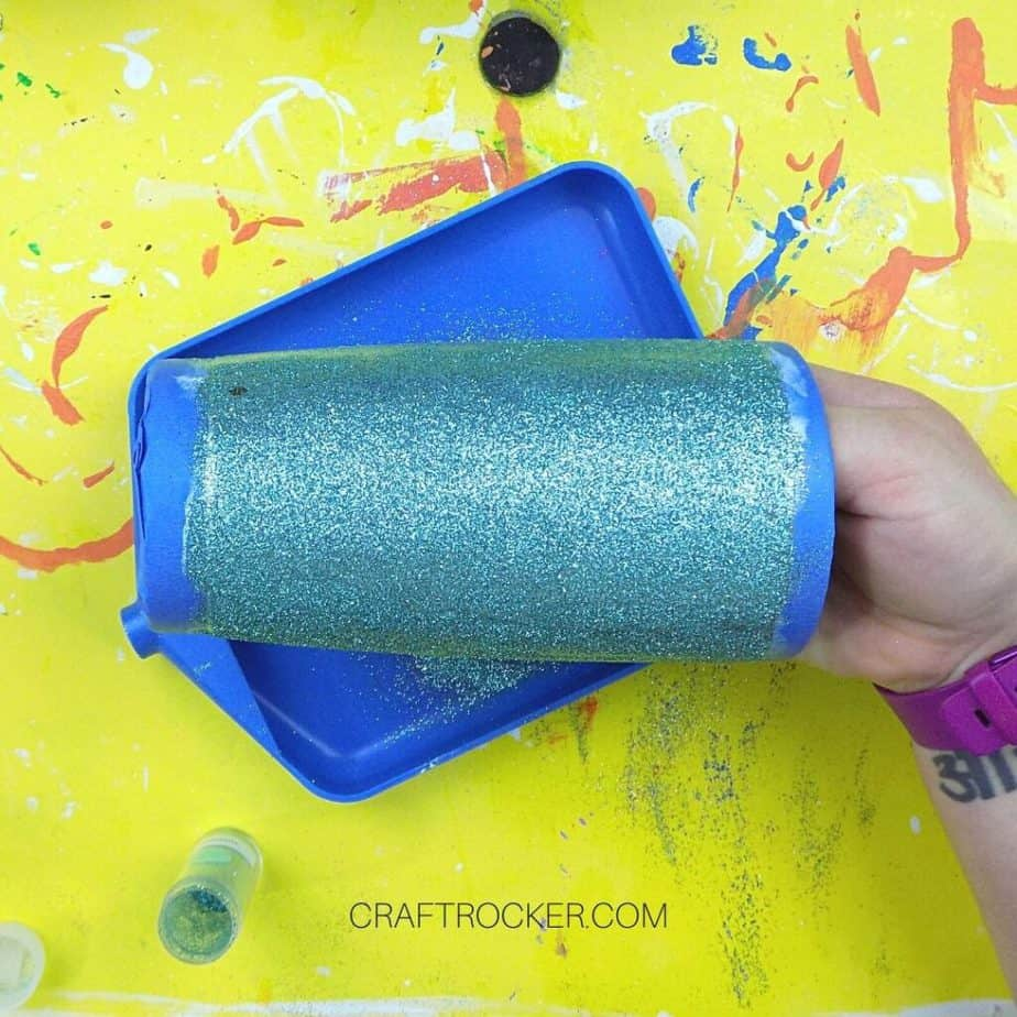 Teal Glitter on Stainless Steel Tumbler - Craft Rocker
