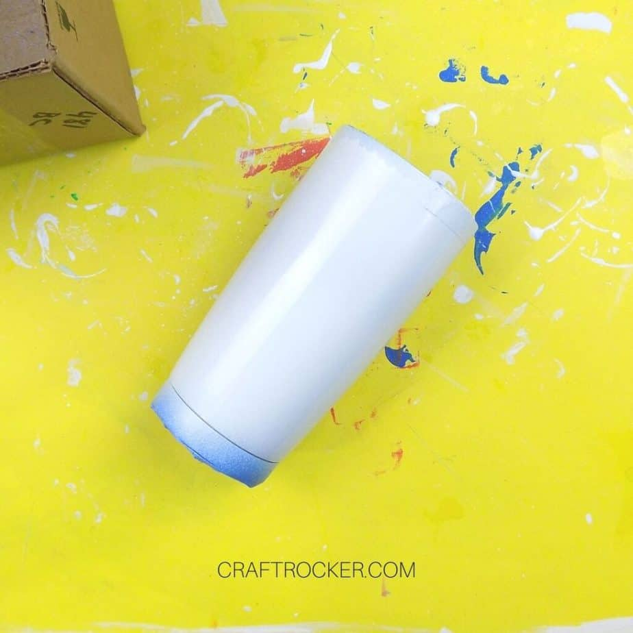 White Spray Painted Tumbler - Craft Rocker