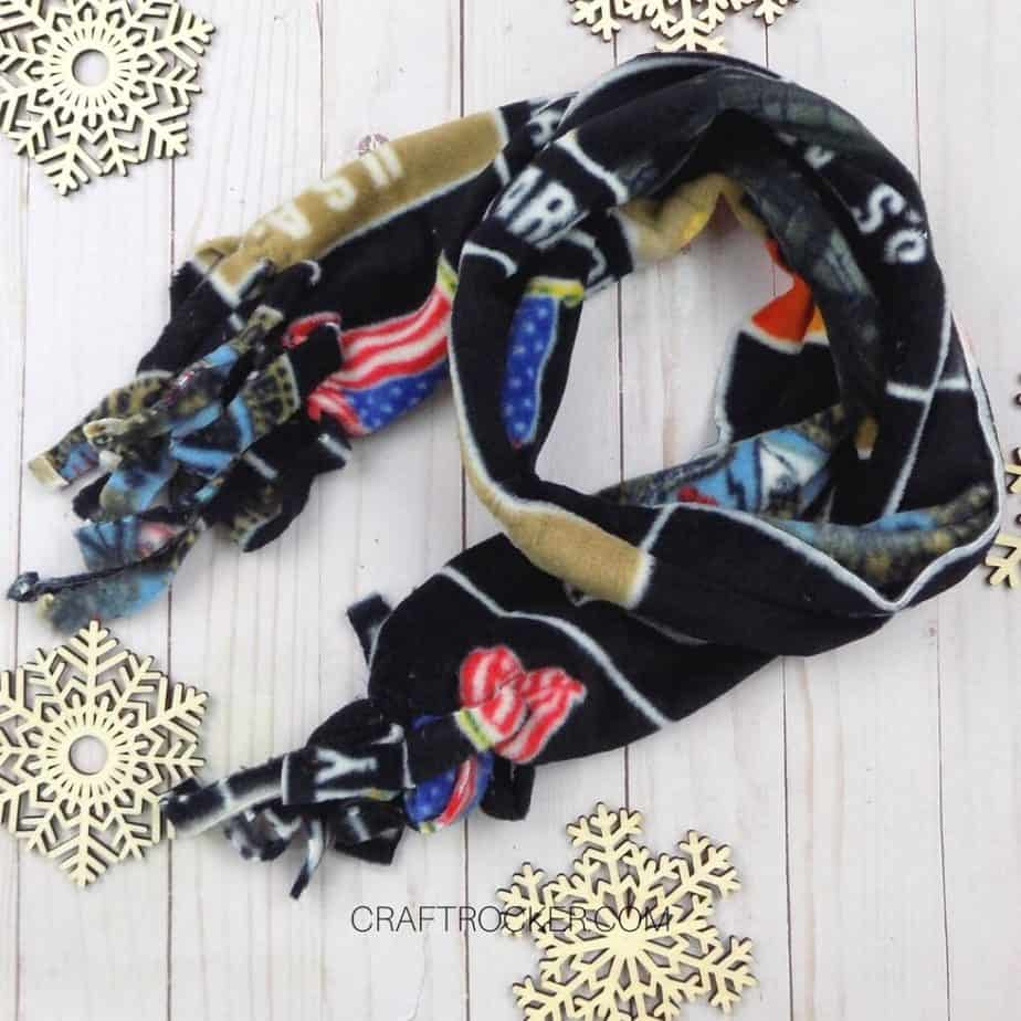Wrapped Army Fleece Scarf - Craft Rocker