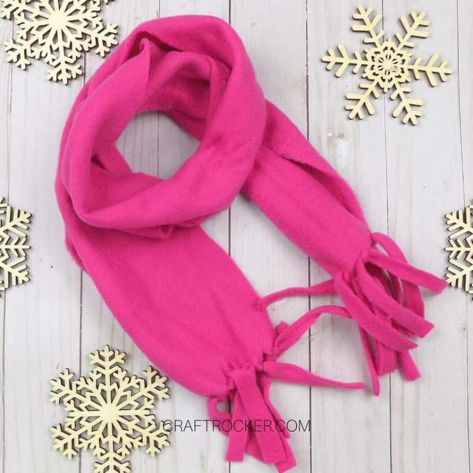 Wrapped Hot Pink Fleece Scarf - Craft Rocker