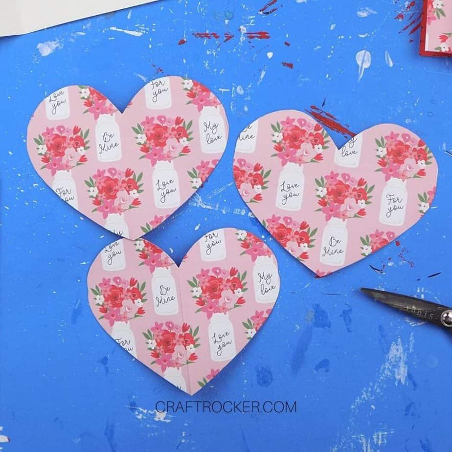 3 Cut Paper Hearts - Craft Rocker