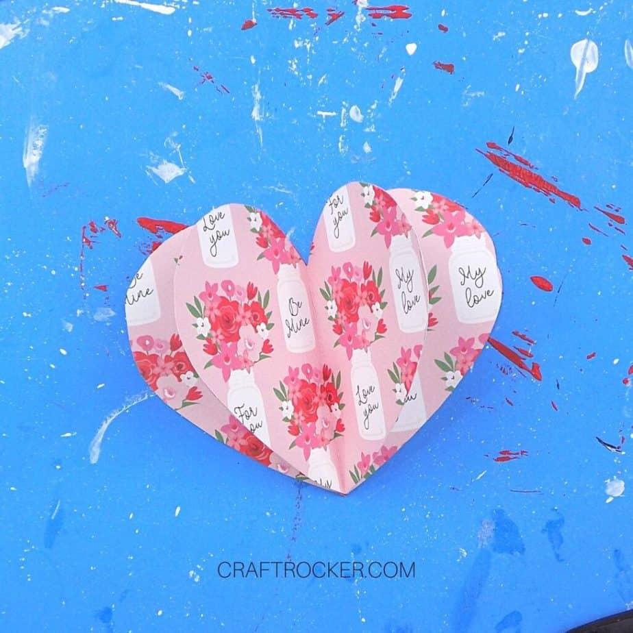 3D Decorative Paper Heart - Craft Rocker