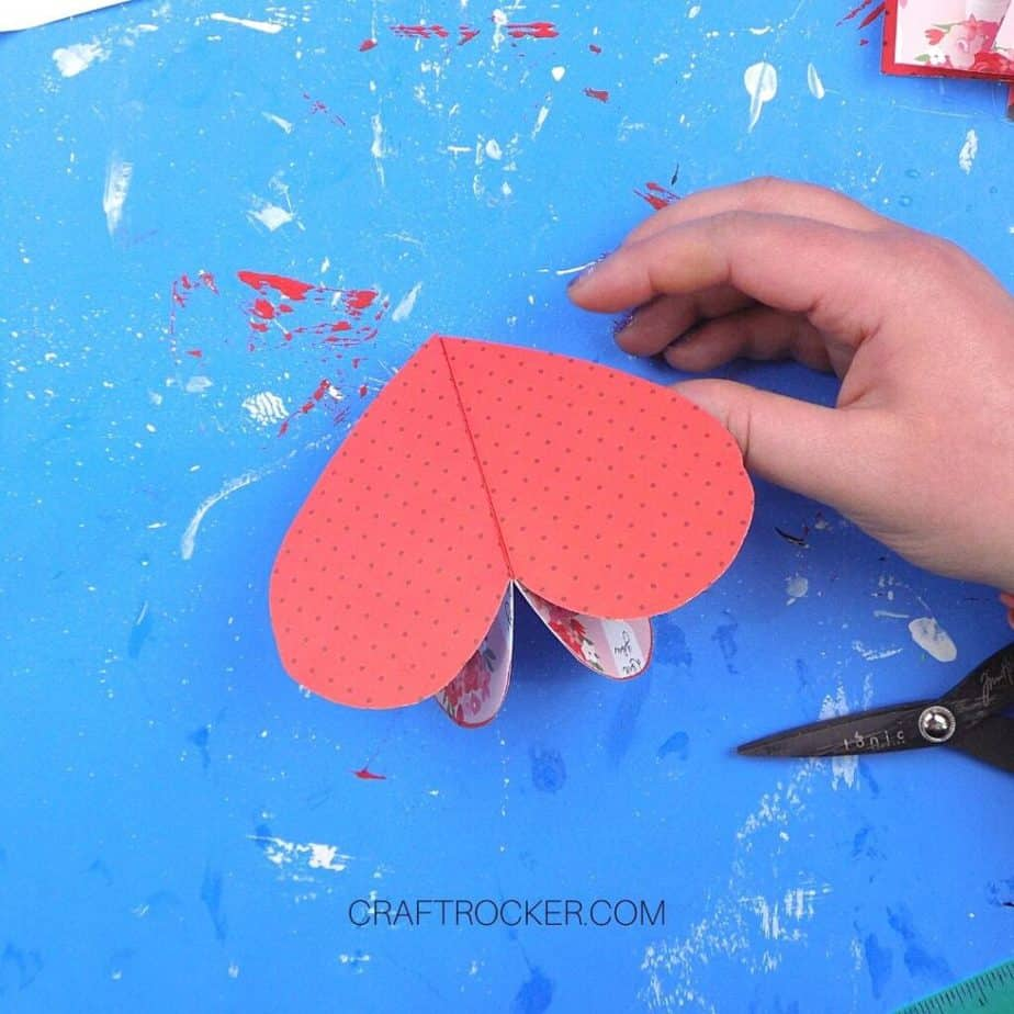 Back of 3D Decorative Paper Heart - Craft Rocker
