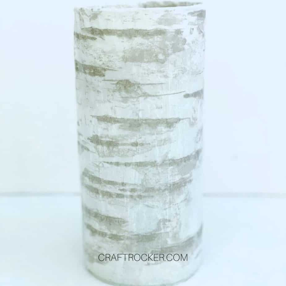 Birch Tissue Paper on Cylinder Vase - Craft Rocker