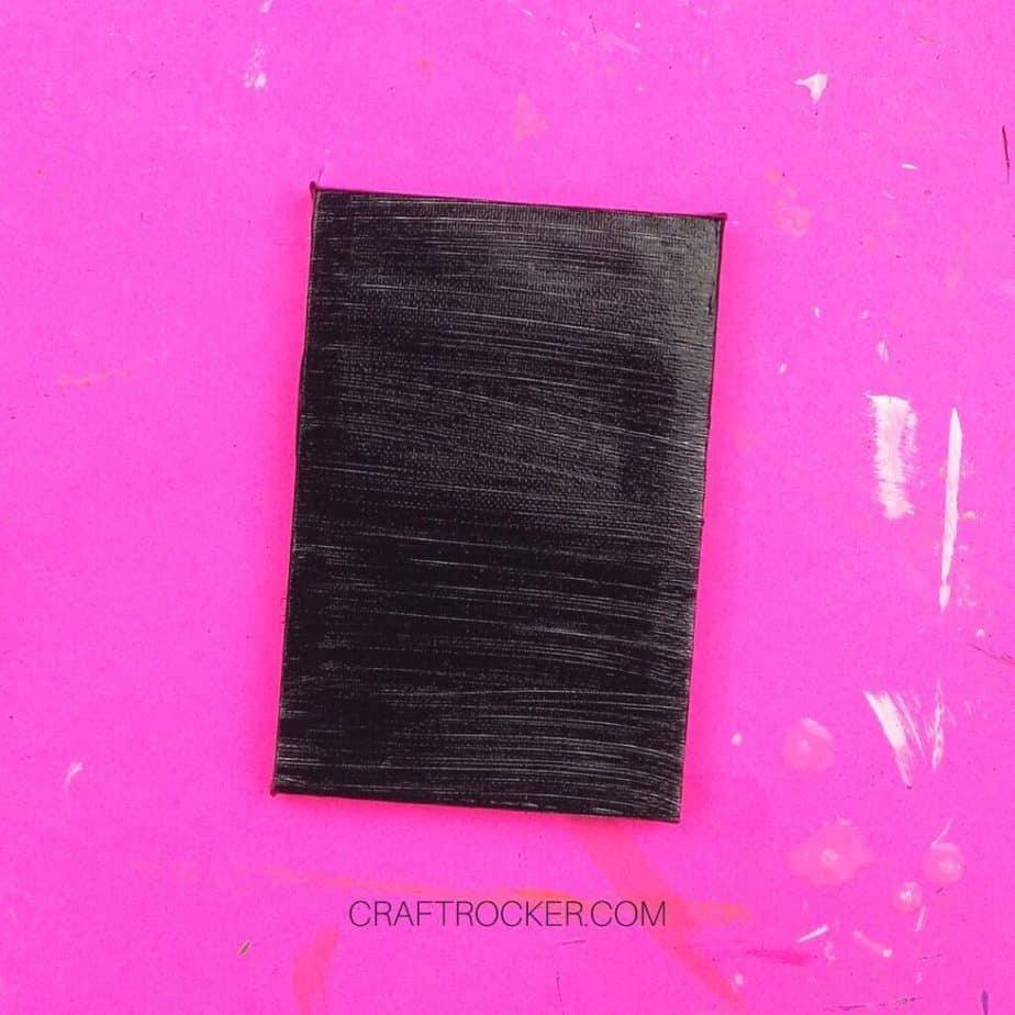 Black Painted Mini Canvas - Craft Rocker