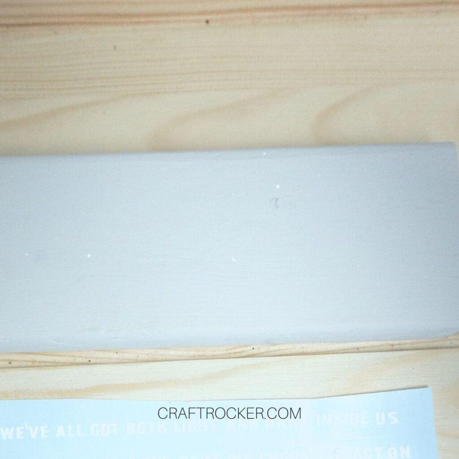 Close Up of Gray Painted Wood Block - Craft Rocker