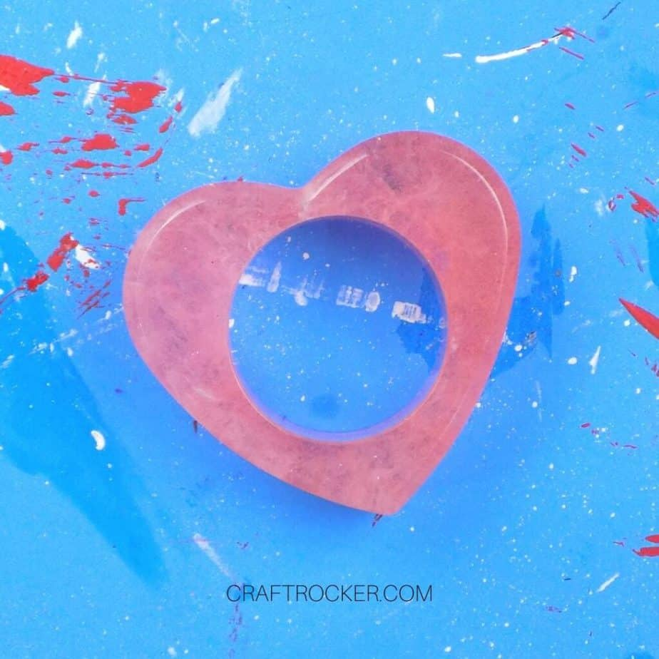 Close Up of Heart Napkin Ring - Craft Rocker