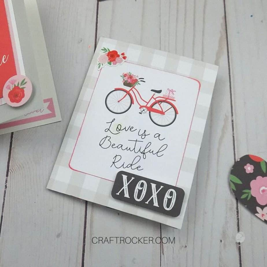 Close Up of Love is a Beautiful Ride Valentine Card - Craft Rocker