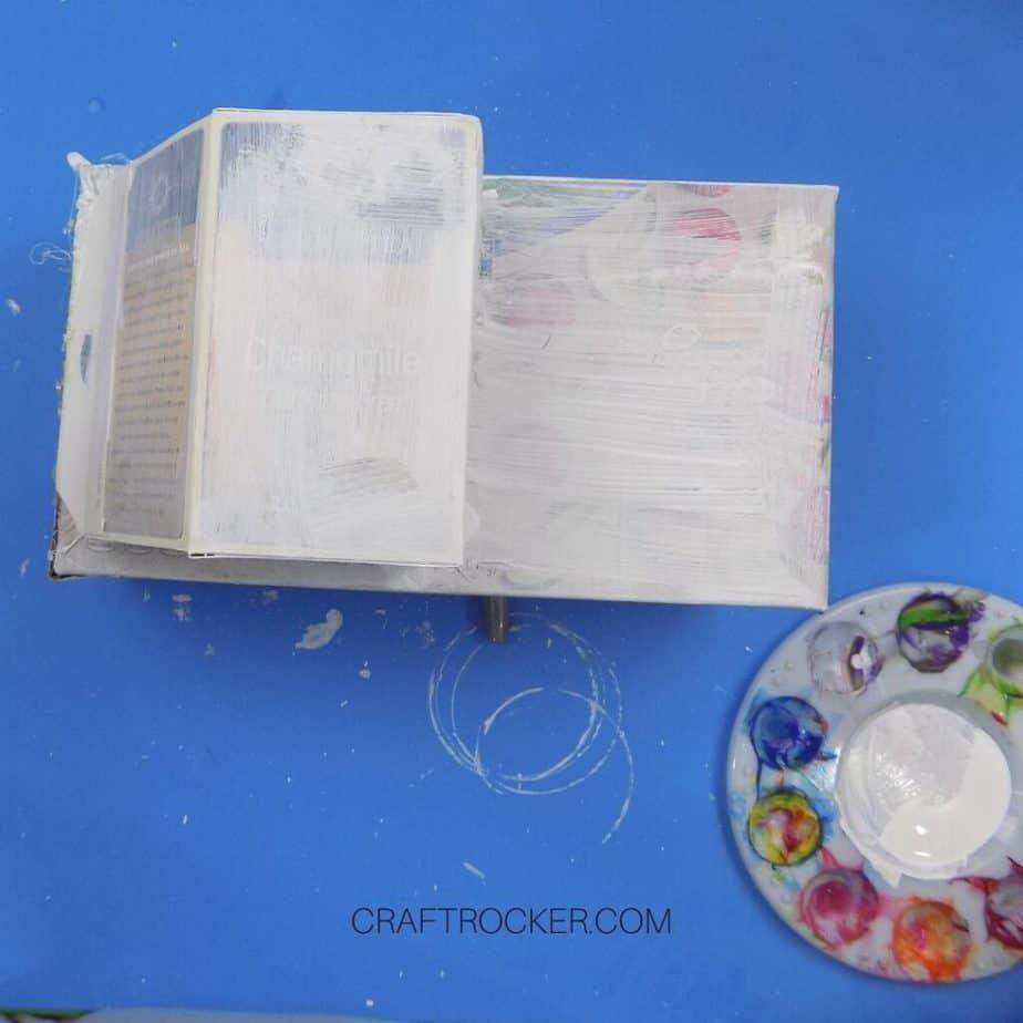 Coat of White Paint on Glued Boxes - Craft Rocker