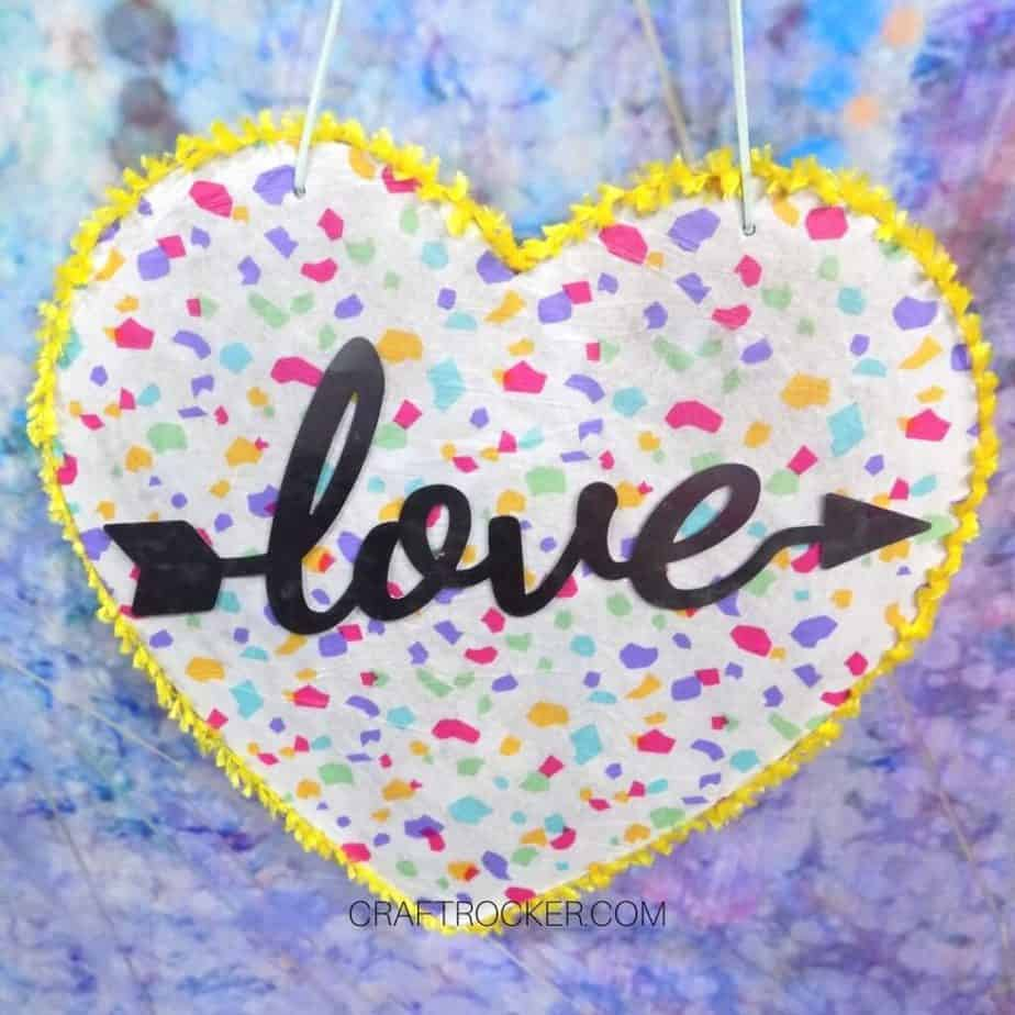 Colorful Valentines Heart Decoration on Lavender Background - Craft Rocker