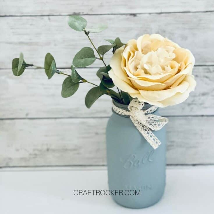 Flower Arrangement in Mason Jar Vase - Craft Rocker