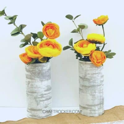 Dollar Tree Faux Birch Vases