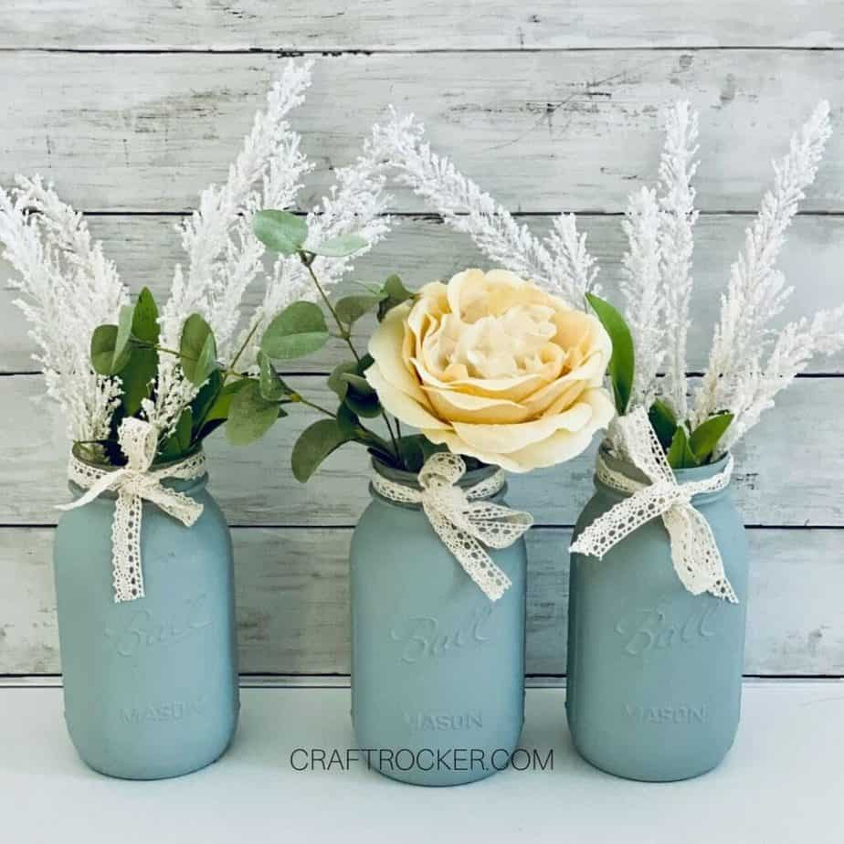 Flower Filled Mason Jar Vases - Craft Rocker