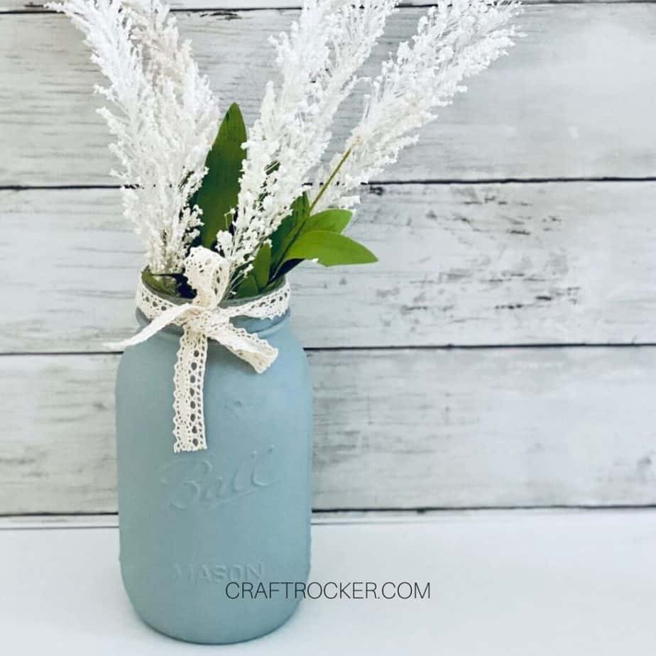 Flower Sprays in Mason Jar Vase - Craft Rocker