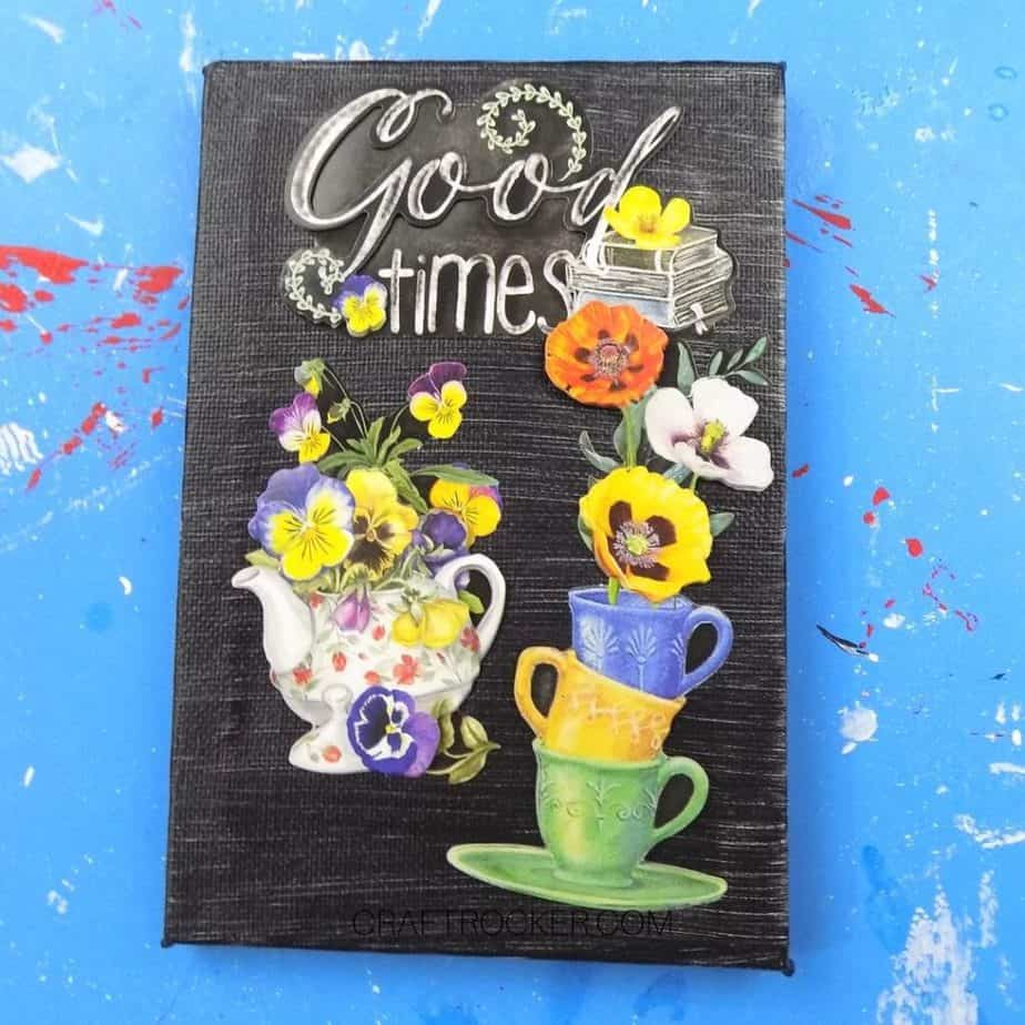 Good Times Decorative Canvas on Blue Background - Craft Rocker