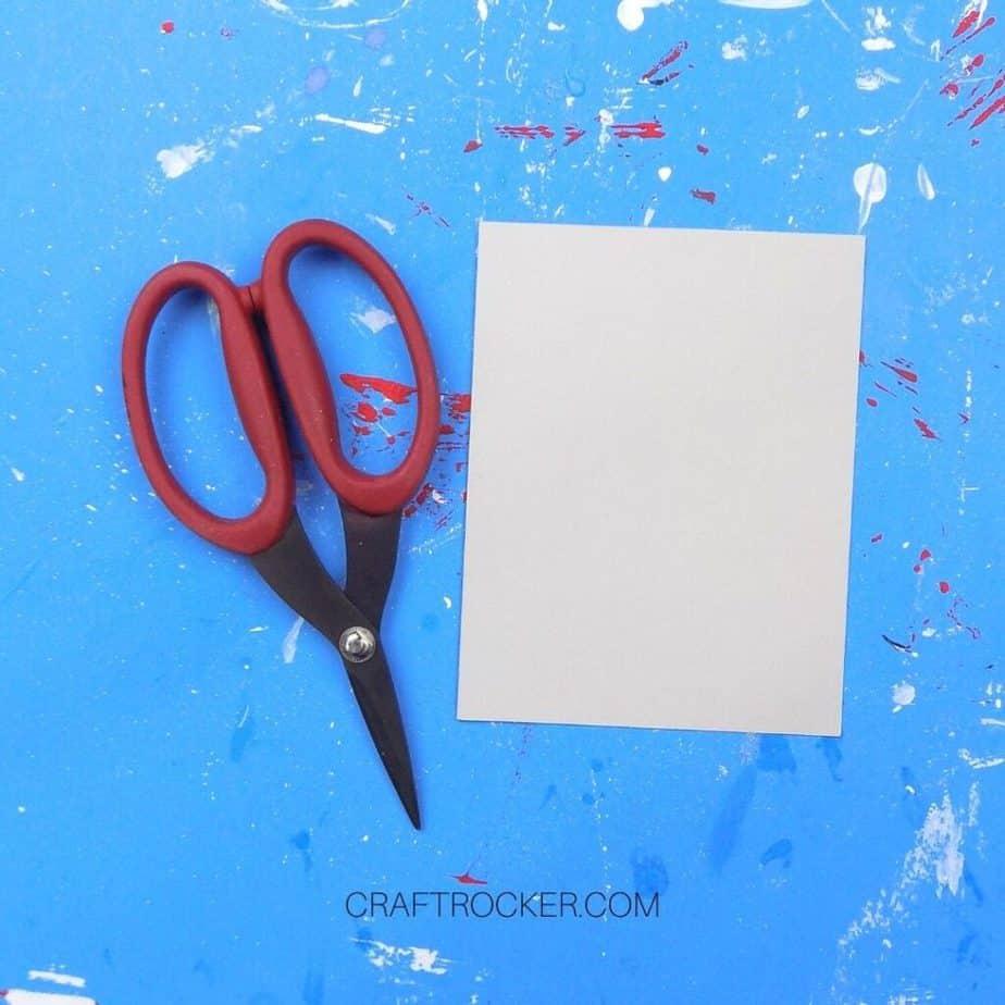 Gray Blank Greeting Card next to Scissors - Craft Rocker