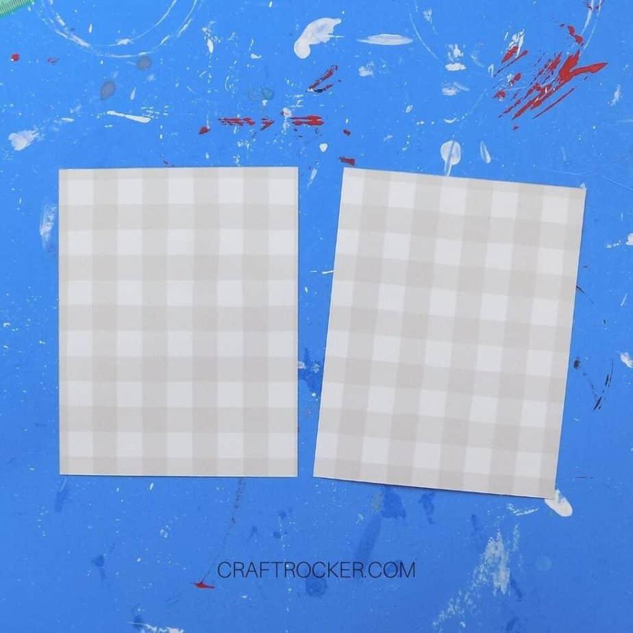 Gray Buffalo Plaid Sheets of Cut Paper - Craft Rocker