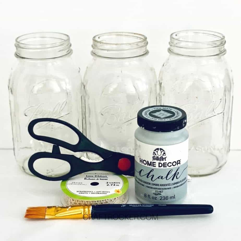 Mason Jars Behind Craft Supplies - Craft Rocker