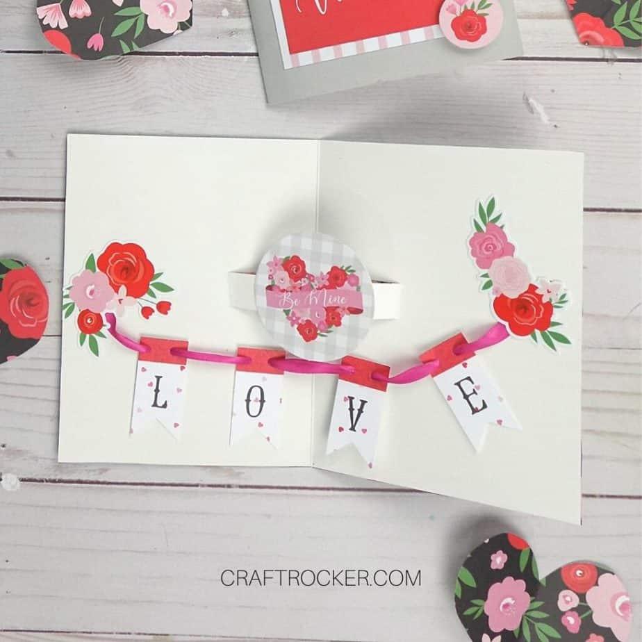 Open Heart Pop Up Card - Craft Rocker
