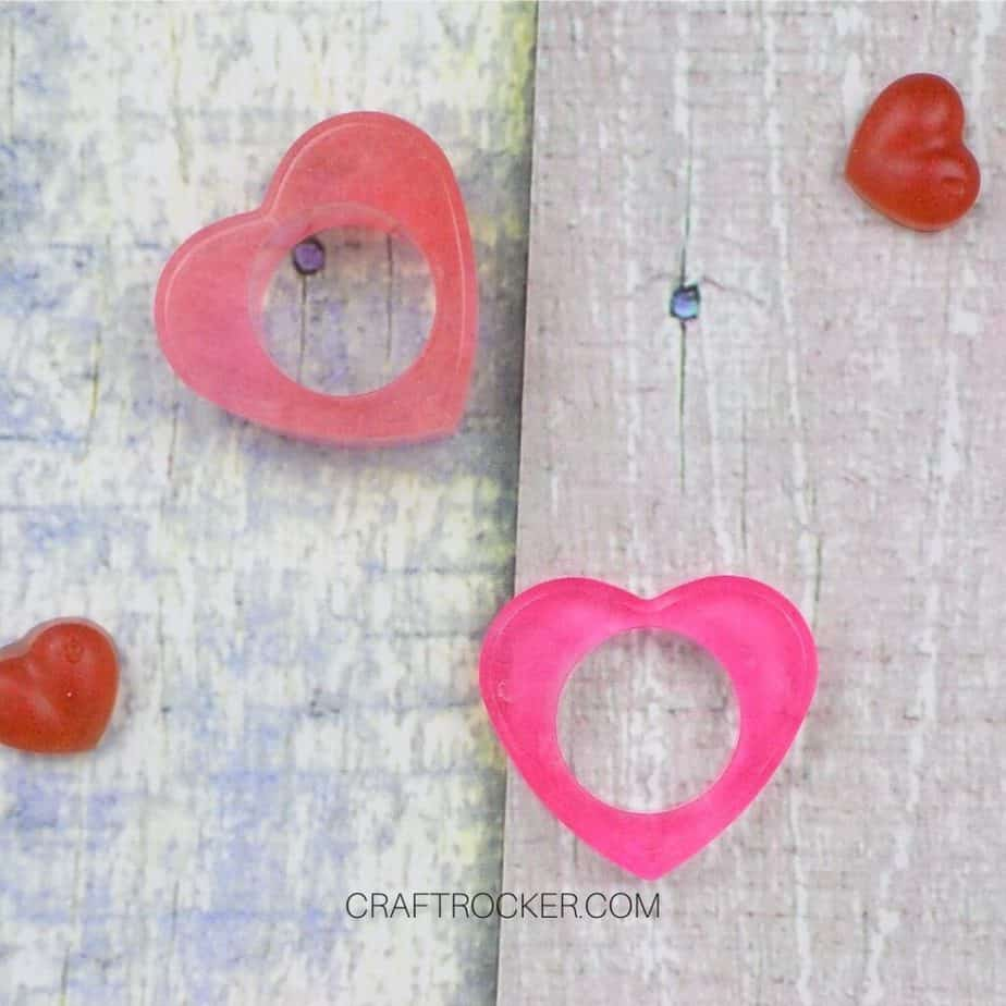 Pink Heart Napkin Rings on Wood Background - Craft Rocker