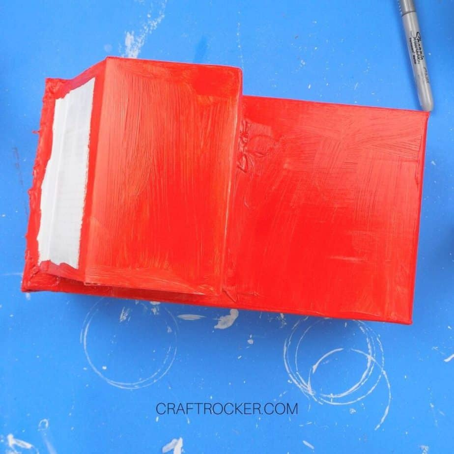 Red Paint on Glued Boxes - Craft Rocker