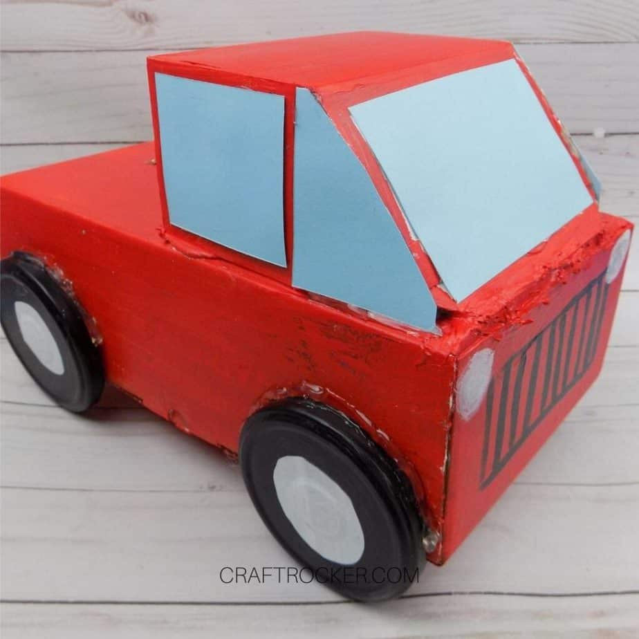 Red Pickup Truck Valentine Box - Craft Rocker