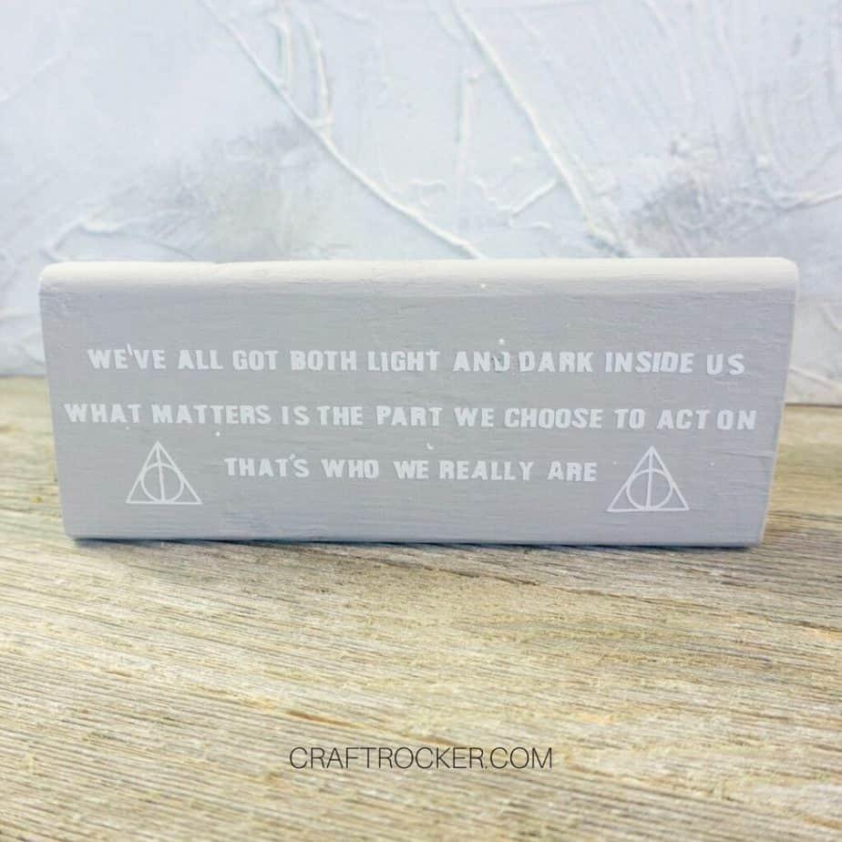 Sirius Black Quote Wood Block - Craft Rocker