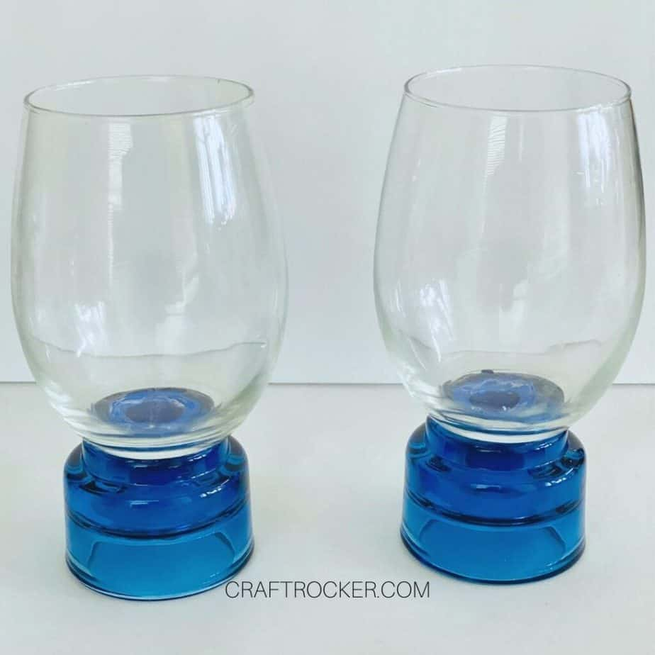 Stemless Wine Glasses Glued to Candle Holders - Craft Rocker