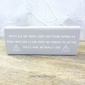 Straight Photo of Sirius Black Quote Wood Block - Craft Rocker
