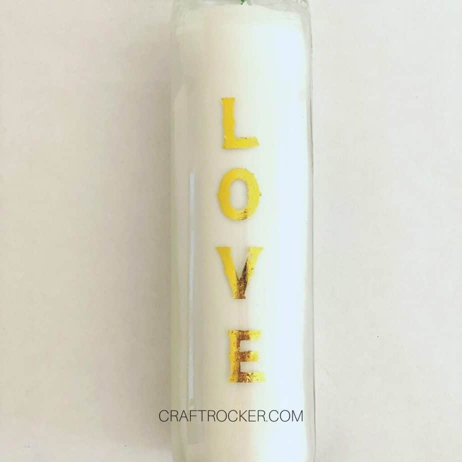 The Word Love on a Candle - Craft Rocker