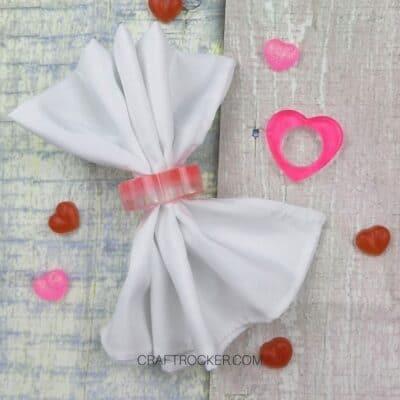 DIY Valentines Heart Napkin Rings