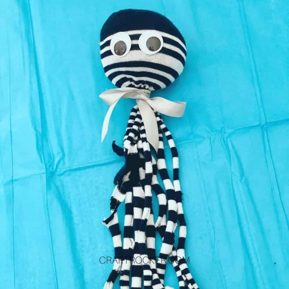 Close Up of Black and White Striped Octopus Toy - Craft Rocker