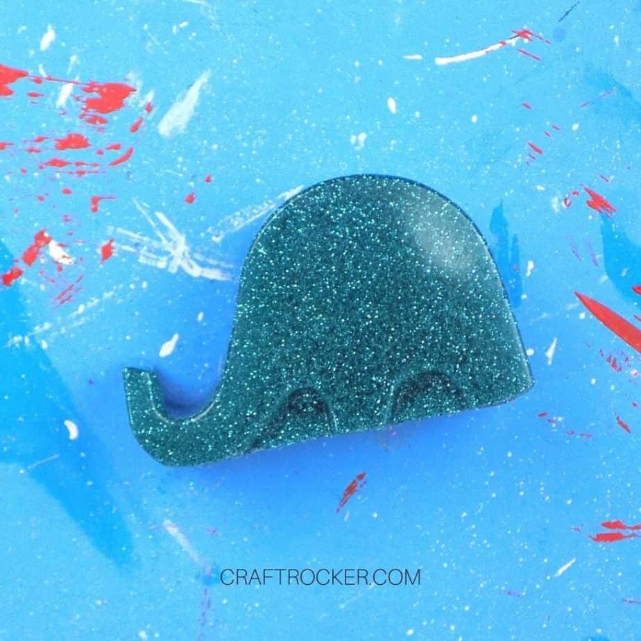 Close Up of Sanded Elephant Phone Holder - Craft Rocker