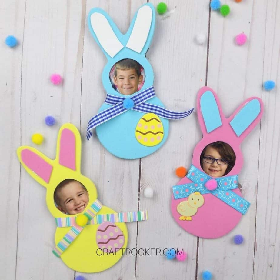 Colorful Foam Bunny Photo Magnets - Craft Rocker