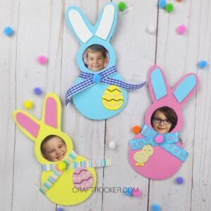 Colorful Foam Bunny Photo Magnets - Craft Rocker