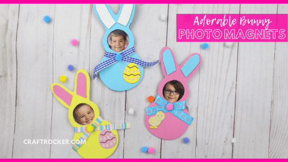 Decorated Bunnies with Photos with text overlay - Adorable Bunny Photo Magnets - Craft Rocker