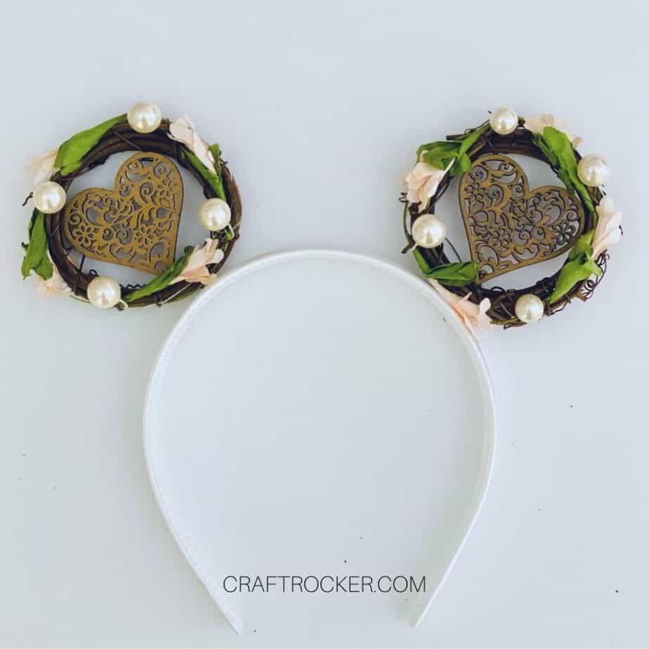 Decorated Mini Wreaths Glued to Headband - Craft Rocker