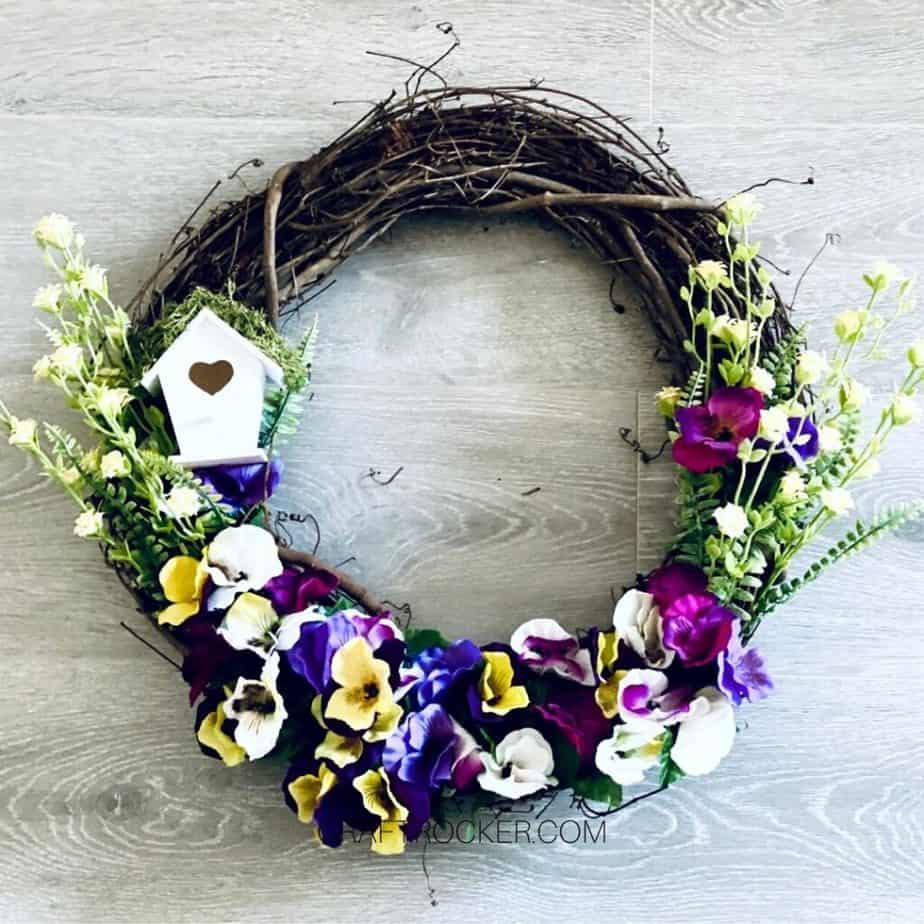 Floral Spring Wreath - Craft Rocker
